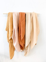 Hand-Dyed Swaddle Blankets (Bamboo/Organic Cotton)