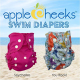 AppleCheeks One Size Swim Diaper - Seychelles