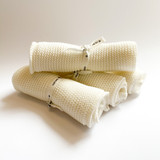 Organic knitted wash cloth