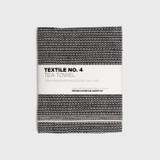 Sashiko Black Linen Tea Towel
