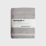 Sashiko Grey Linen Tea Towel