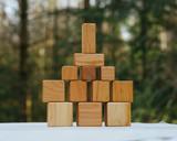 Petit Bosc Cherry Wood Blocks - 12