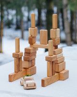 Petit Bosc Cherry Wood Building Blocks - 30