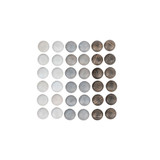 Grapat Mandala Stones 36 pc - Grey