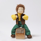 Grimm's Dollhouse Doll - Father with Brown Hair