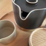 Hasami Porcelain Creamer - Matte Natural
