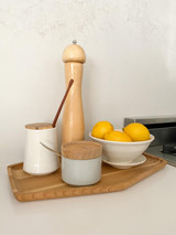 Hasami Porcelain Sugar Pot - Gloss Grey