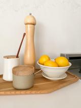 Hasami Porcelain Sugar Pot - Matte Natural