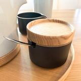 Hasami Porcelain Sugar Pot - Matte Black