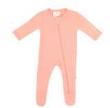 Kyte Baby Bamboo Zippered Footie in Blush