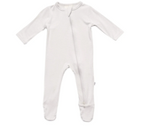 Kyte Baby Bamboo Zippered Footie in Oat