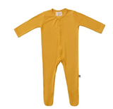 Kyte Baby Bamboo Zippered Footie in Mustard