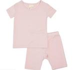 Kyte Baby Bamboo Short Sleeve Toddler Pajamas in Blush