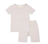 Kyte Baby Bamboo Short Sleeve Toddler Pajamas in Oat