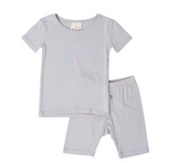 Kyte Baby Bamboo Short Sleeve Toddler Pajamas in Storm
