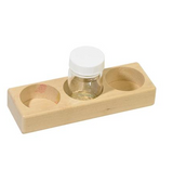 Holder for 3 Paint Jars - Beech Wood