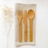 Spoon, Knife and Fork Set - Bamboo