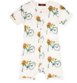 kbarn Bamboo Romper - Floral Bicycle