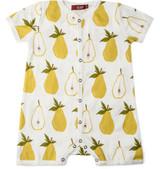 Milkbarn Organic Cotton Romper - Pear