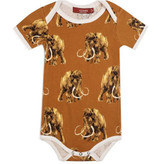Milkbarn Organic Cotton Onesie Short-Sleeve - Woolly Mammoth