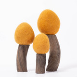 Papoose  Felt Trees Set of 3 - Earth Spring (Ochre)