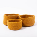 Papoose Nesting Bowls Mustard 3 pc