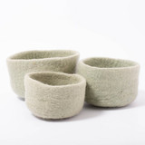 Papoose Nesting Bowls Sage 3 pc