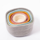 Papoose Nesting Bowls 7 pc - Earth Pastel