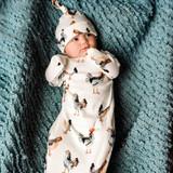 Milkbarn Organic Cotton Newborn Gown & Hat Set