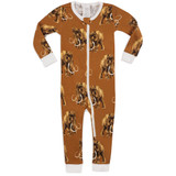 Milkbarn Organic Cotton Zipper Pajamas Woolly Mammoth