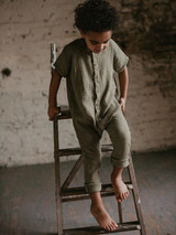 The Archer Organic Muslin Playsuit - Sage