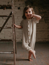 The Archer Organic Muslin Playsuit - Ecru