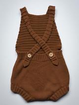 The Knit Romper - Rust