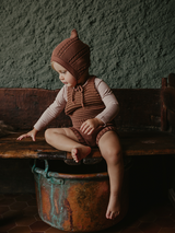 The Knit Romper - Rust