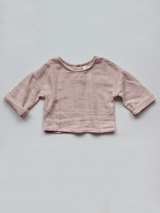 The Button Back Top - Antique Rose