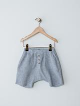 The Explorer Linen Shorts - French Stripe