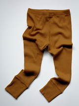 The Ribbed Leggings - Bronze