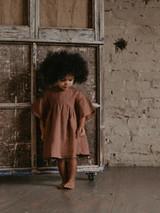 The Sage Linen Dress - Cinnamon
