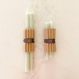 Pure Beeswax Candles (1 Pair) - Sage
