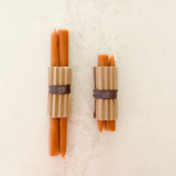 Pure Beeswax Candles (1 Pair) - Terra