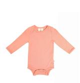 Kyte Baby Bamboo Bodysuit Long -Sleeve in Terracotta