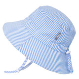 Jan & Jul Bucket Cotton Sun Hat - Blue Stripes