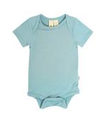 Kyte Baby Bamboo Bodysuit Short in Seafoam