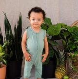 Kyte Baby Bamboo Sleeveless Romper in Matcha