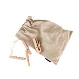 Iris Hantverk Linen Bag with Clothes Pegs