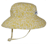 Puffin Gear Cotton Sunbaby Sun Hat - Trellis Vine-Gold