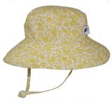 Puffin Gear Cotton Sunbaby Sun Hat - Trellis Vine-Gold