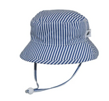 Puffin Gear Cotton Camper Sun Hat - Blue Natty Stripe