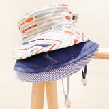 Puffin Gear Cotton Camper Sun Hat - Blue Natty Stripe