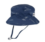 Puffin Gear Cotton Camper Sun Hat - Stream Fish